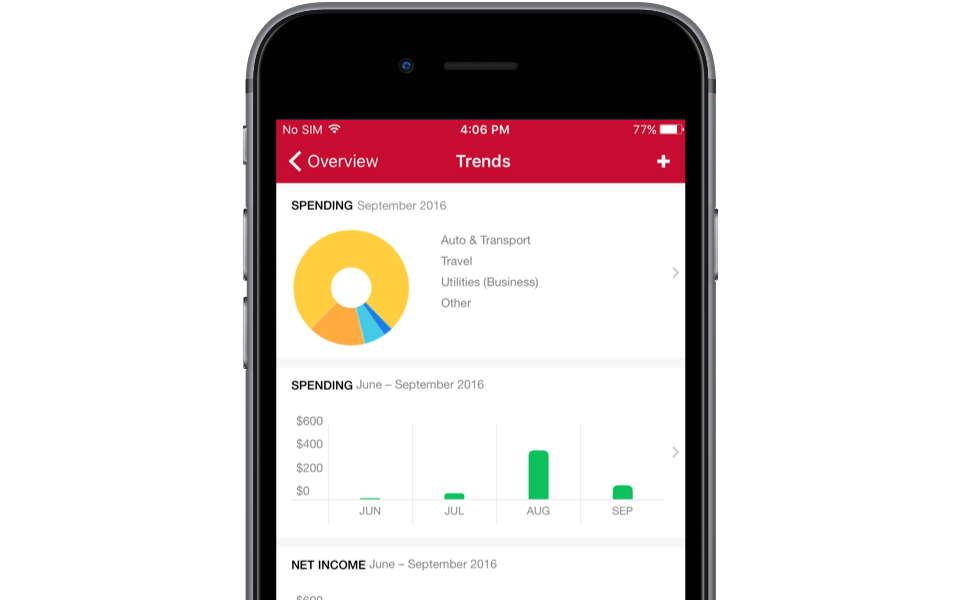 Quicken online mobile app IOS Android spending saving