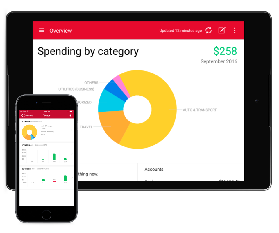 Quicken Budgeting App for iPhone®, iPad® or Android™ Devices