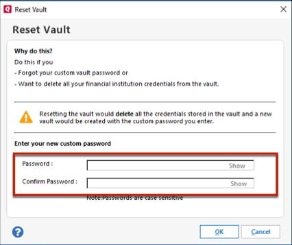 What is the Password Vault and how do I use it?