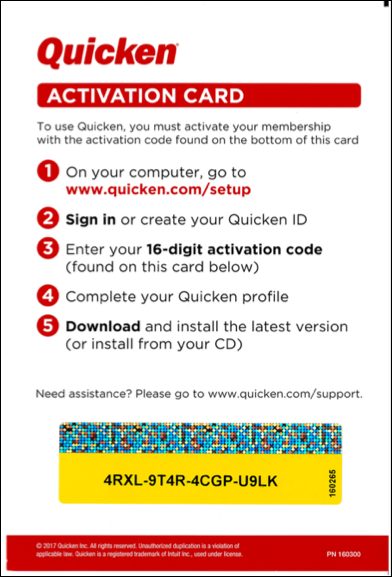 How to activate your Quicken membership
