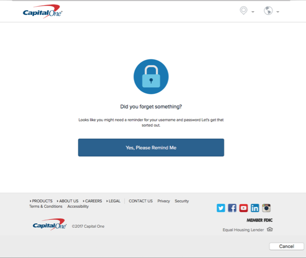Why am I being asked to verify my Capital One account in Quicken?