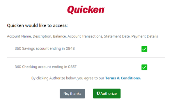 Adding Capital One Accounts in Quicken for Windows