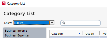 Working with Categories in Quicken for Windows