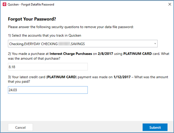 What if I forgot the Data File Password or Quicken isn\u0027t accepting it?