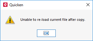 Error When Opening a Data File While Using an Online Storage Service