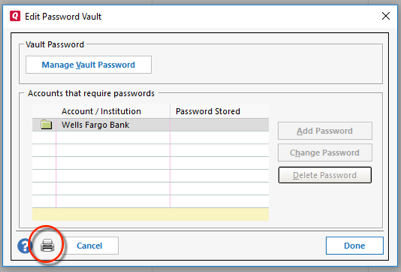 What if I need to delete/reset the Password Vault?