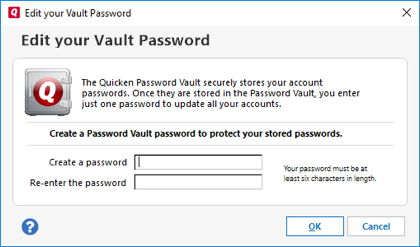 How to change vault app password