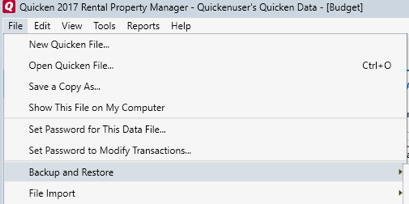 How to Backup or Restore Your Quicken Data