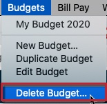 Budgets in Quicken for Mac