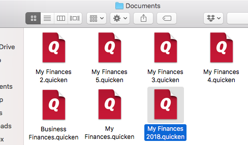 Locating Data Files (Quicken for Mac)