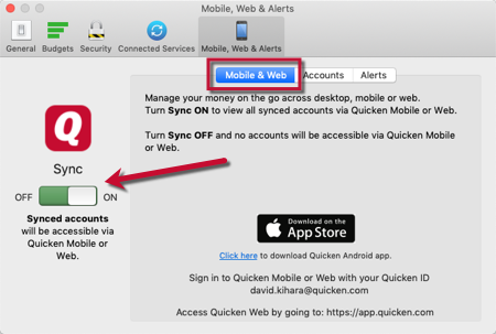 How to Set Up and Sync Accounts from Quicken onto Your