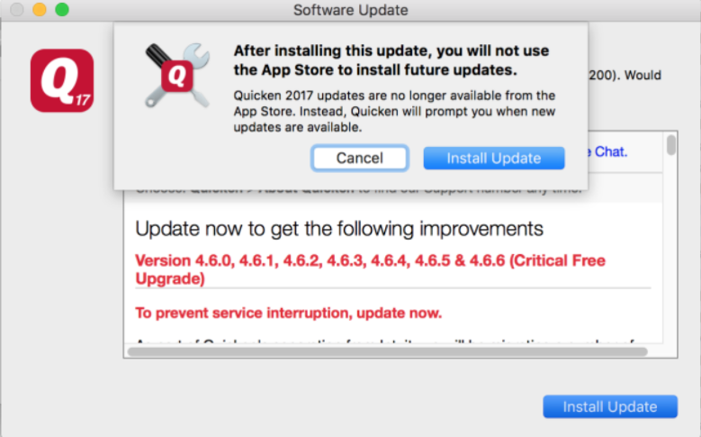 Updating Quicken Mac Purchased from Mac App Store