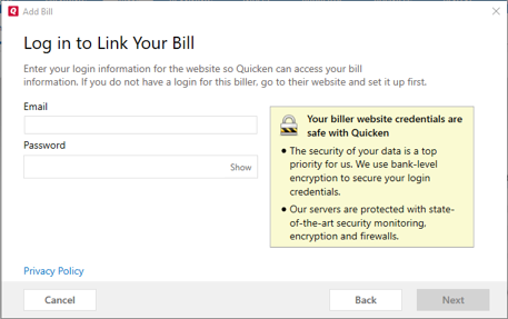 Quicken Bill Manager How To Set Up Quick Pay and Check Pay