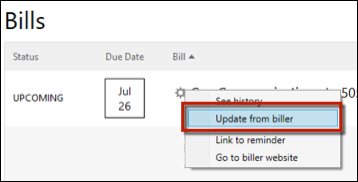 How Do I Manage Online Bills In Quicken?