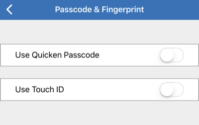 Settings in the Quicken Mobile App