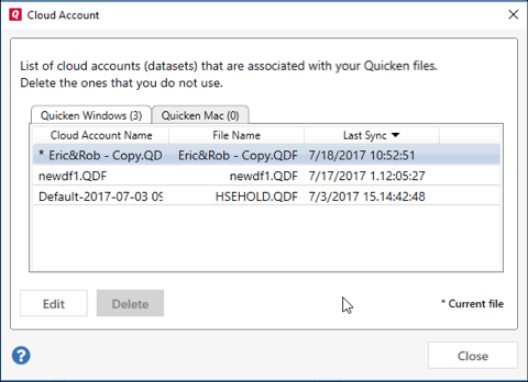 Edit Quicken Data files