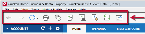 Updating your navigation preferences in the Subscription Release of Quicken for Windows