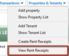 How to create rent receipts for tenants