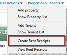 rental receipts for tenants