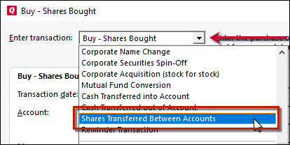 how do i transfer shares in quicken for windows rh quicken com Quicken Go Special Quicken Premier 2011