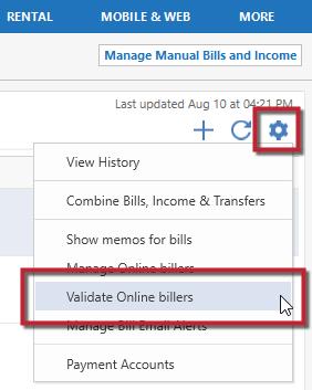 Online Bill Center Error Biller Already Added