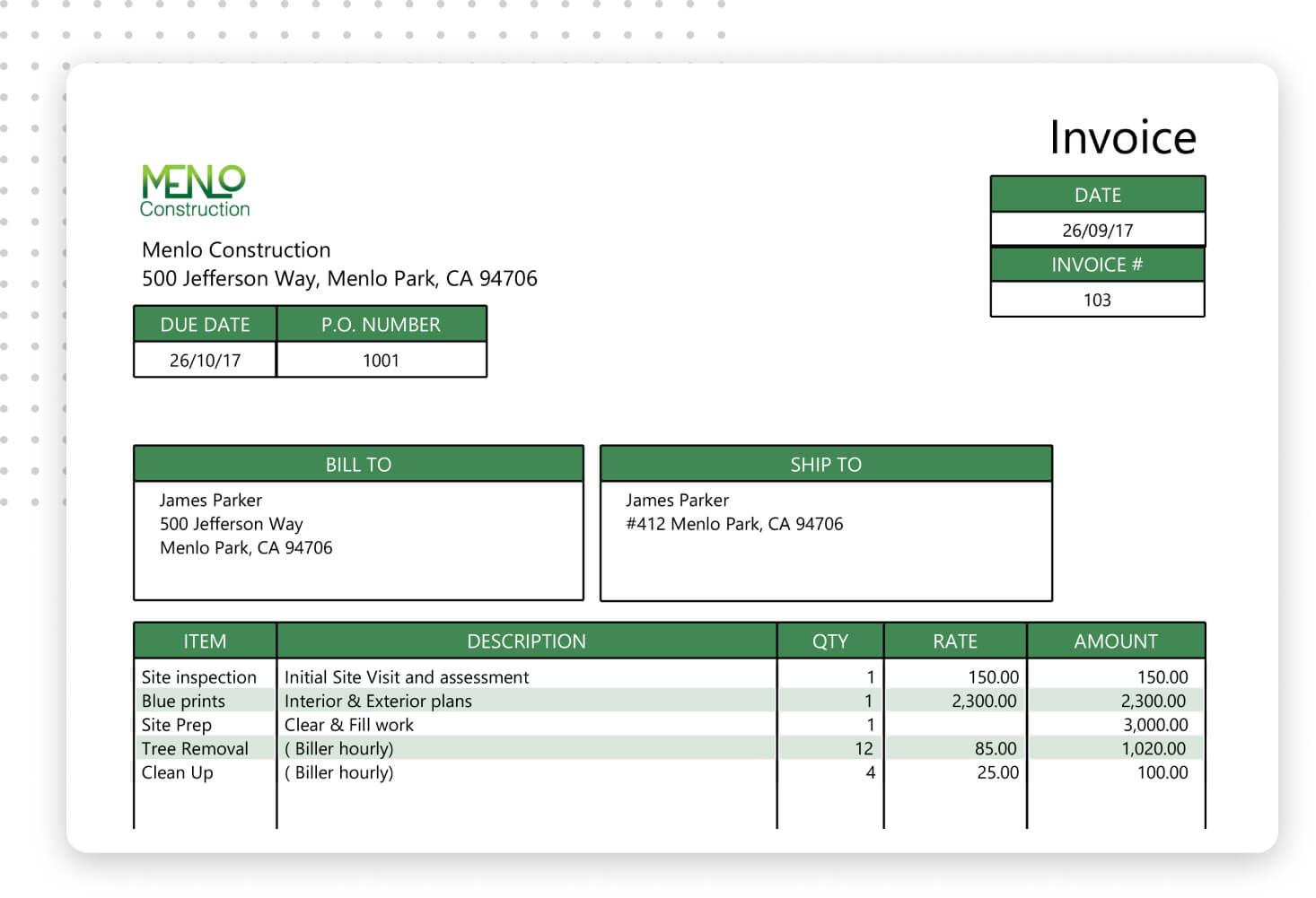 create a custom invoice