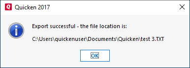 How do I export data from Quicken?