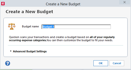 Create a New Budget