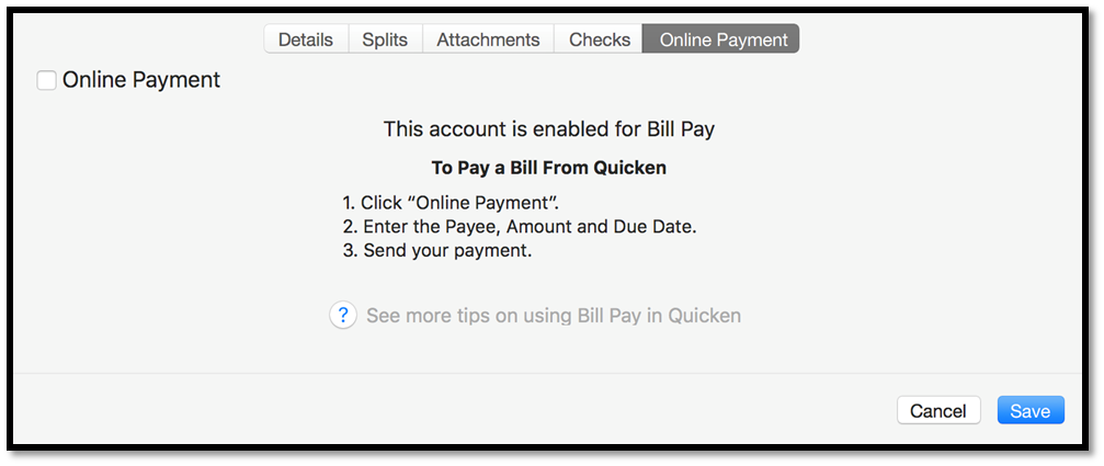 How Quicken Bill Pay works