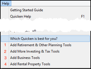 How do I add additional features to Quicken 2012 and newer?