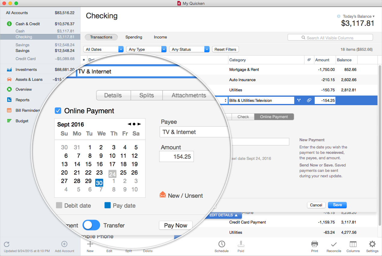 personal finance software for mac 2016