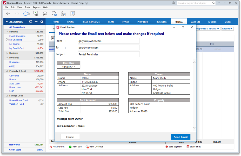 Personal Finance Management Whats New In Quicken - Quicken home and business invoices