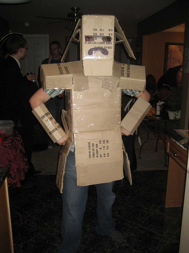 unique halloween box man costume - Halloween Box Costumes